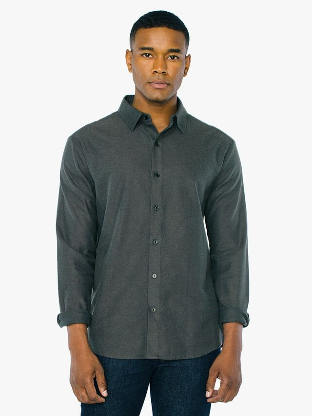 Flannel Classic Shirt (Charcoal)