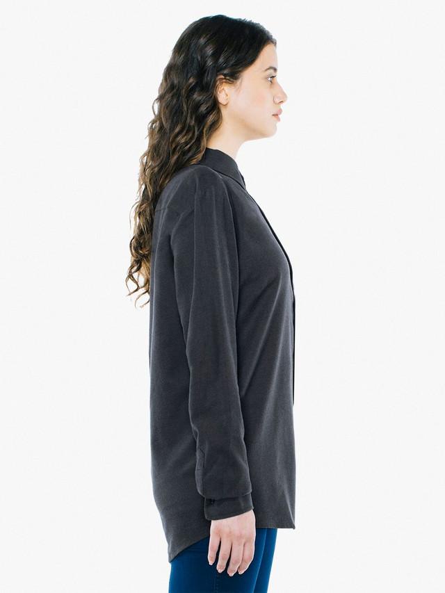 Unisex Flannel Classic Shirt (Charcoal)