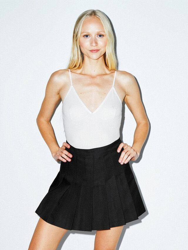 Gabardine Tennis Skirt (Black)
