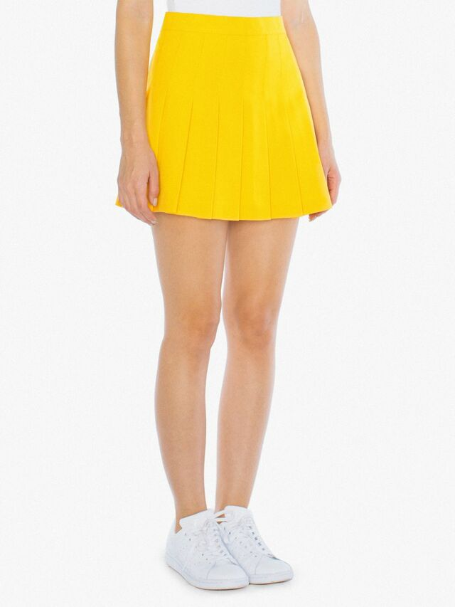 Gabardine Tennis Skirt (Gold)