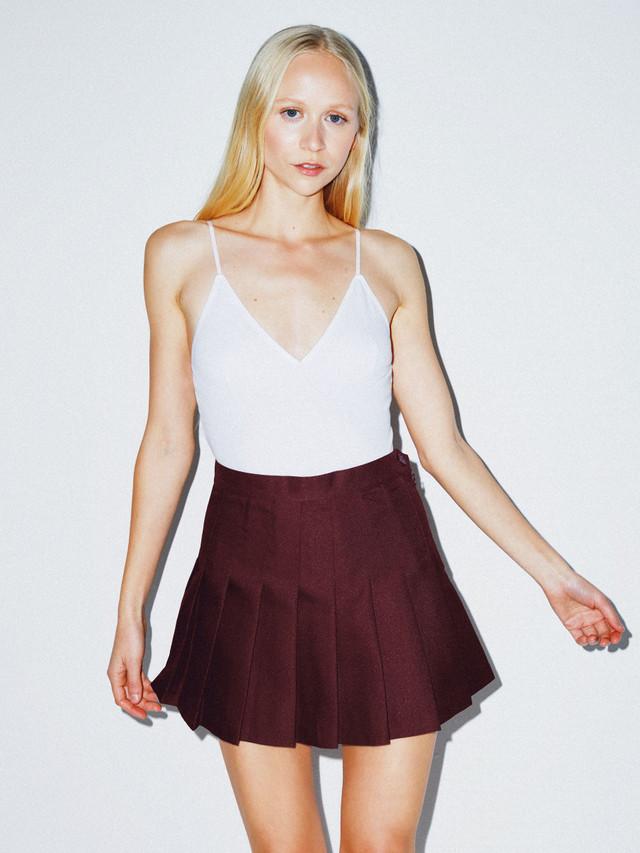 Gabardine Tennis Skirt (Truffle)