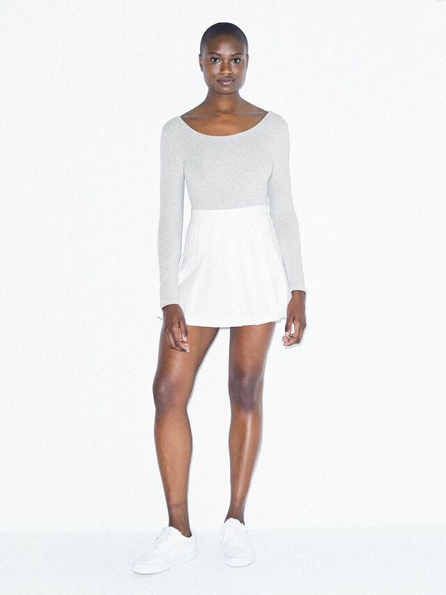 Gabardine Tennis Skirt (White)