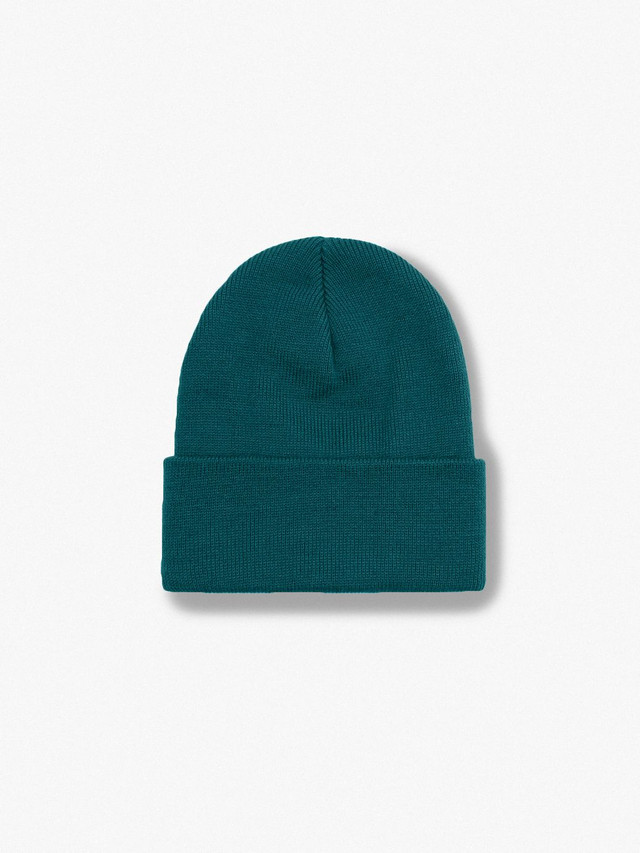 Cuffed Acrylic Lined Beanie (Forest)