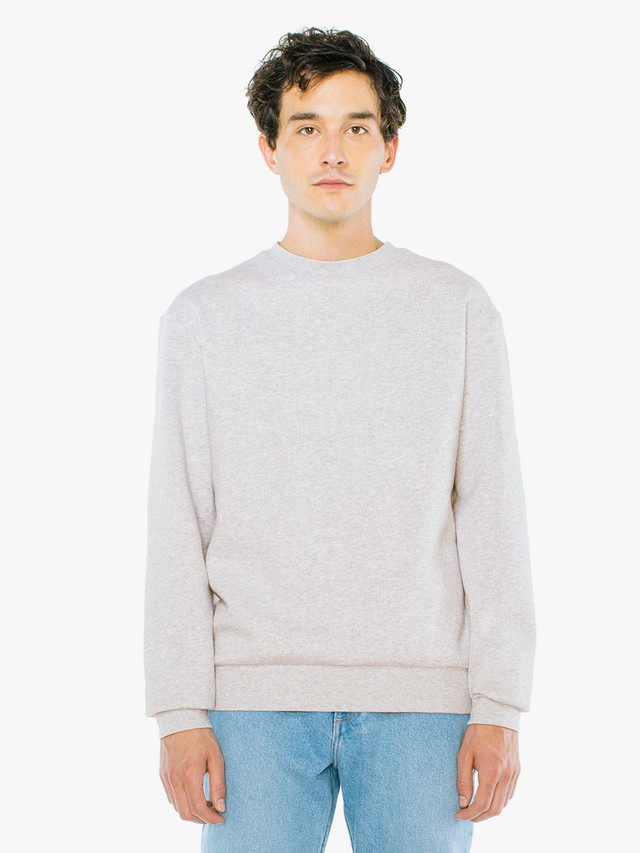 Peppered Fleece Pullover Crewneck (Dark Ash)