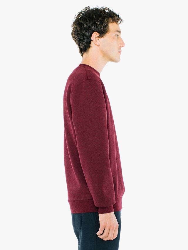 Peppered Fleece Pullover Crewneck (Peppered Cranberry)