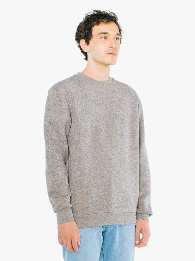 Peppered Fleece Pullover Crewneck (Peppered Grey)