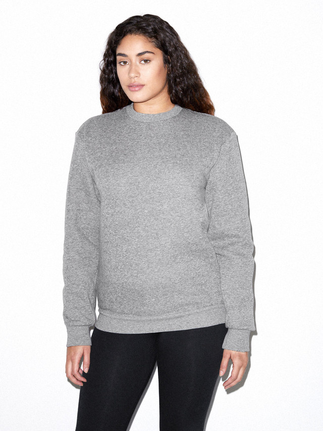 Unisex Peppered Fleece Pullover Crewneck (Peppered Grey)
