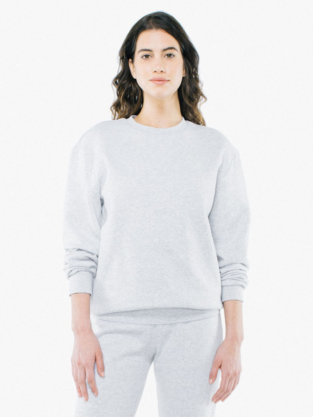 Unisex Peppered Fleece Pullover Crewneck (Dark Ash)