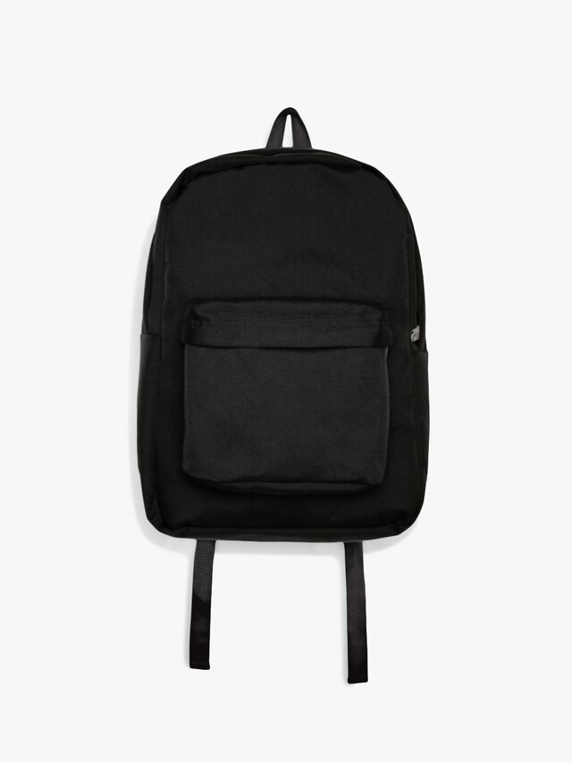 Nylon School Bag (Black/Black)