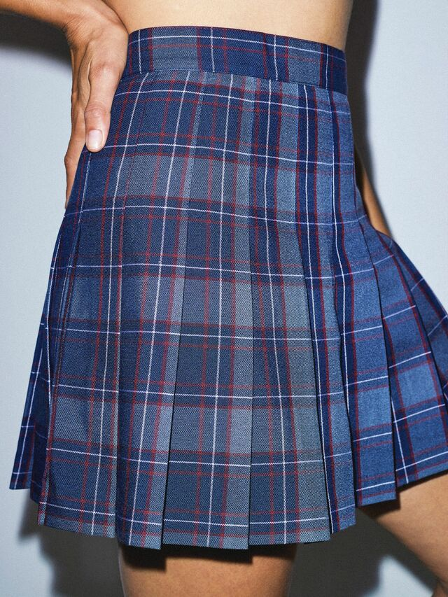 Plaid Tennis Skirt (Navy Plaid)