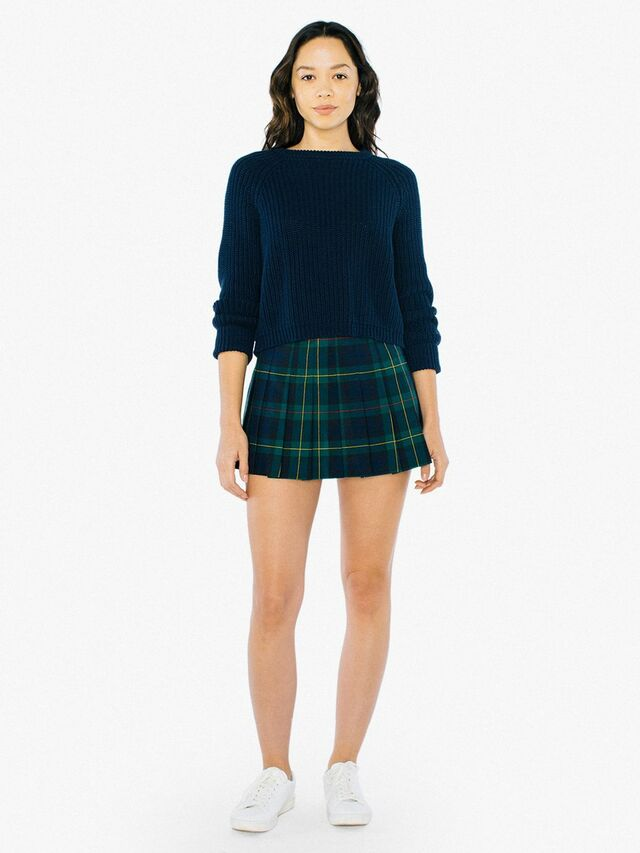Plaid Tennis Skirt (Green Plaid)