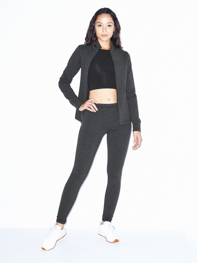 Stretch Terry Legging (Charcoal)