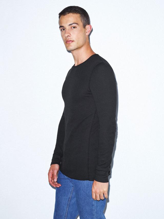Baby Thermal Long Sleeve T-Shirt (Black)