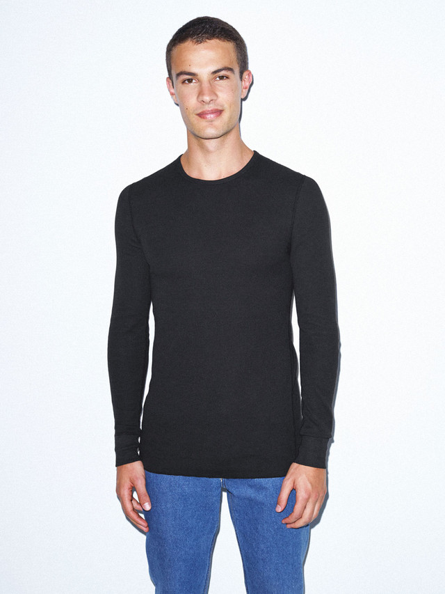Baby Thermal Long Sleeve T-Shirt (Black)