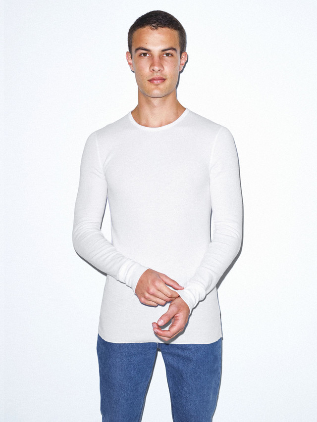 Baby Thermal Long Sleeve T-Shirt (White)