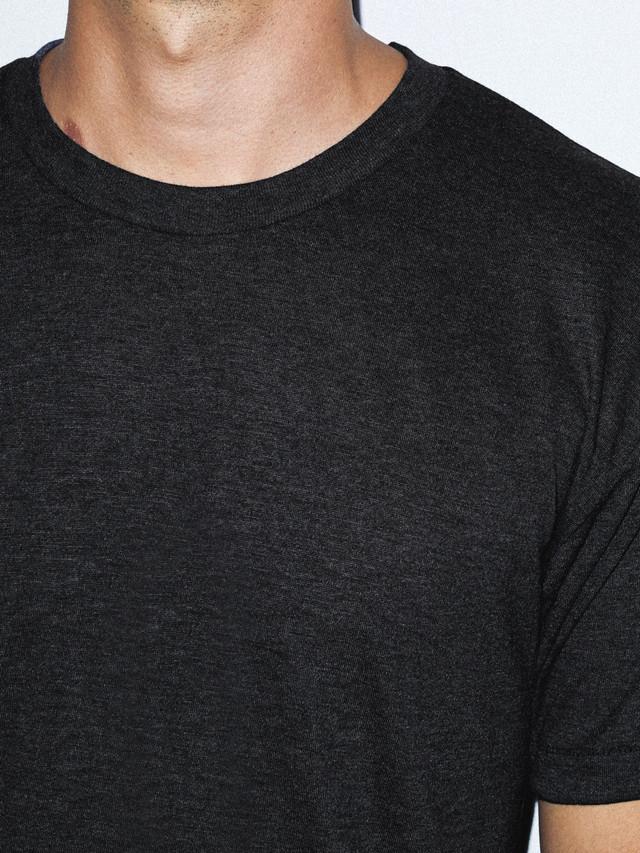 Tri-Blend Crewneck Track T-Shirt (Tri-Black)