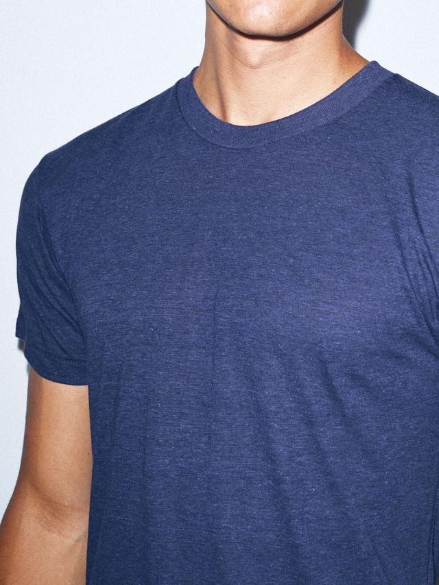 Tri-Blend Crewneck Track T-Shirt (Tri-Indigo)