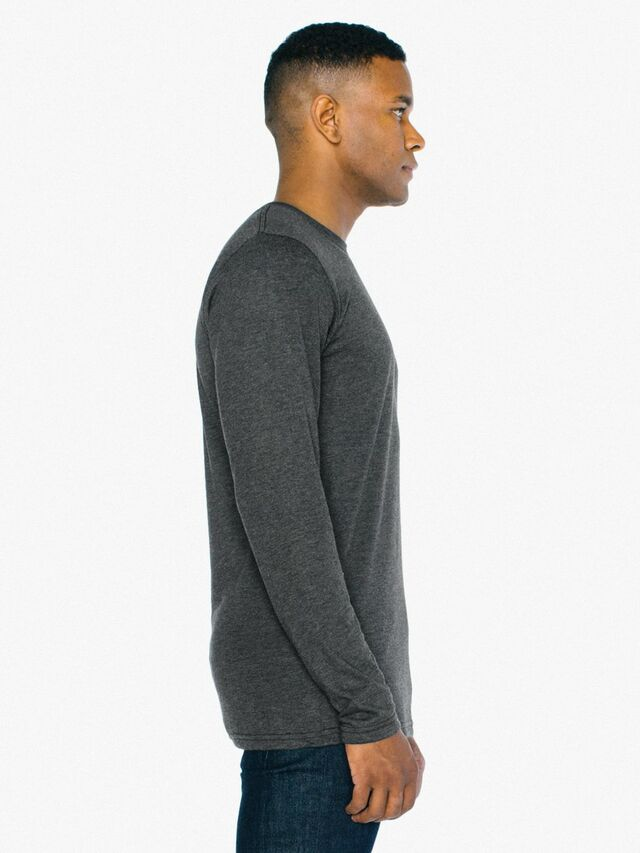 Tri-Blend Long Sleeve T-Shirt (Tri-Black)