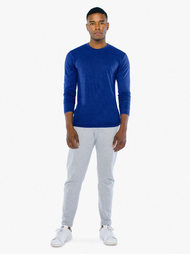 Tri-Blend Long Sleeve T-Shirt (Tri-Indigo)