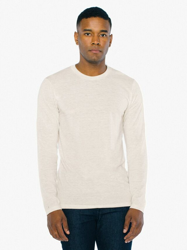 Tri-Blend Long Sleeve T-Shirt (Tri-Oatmeal)