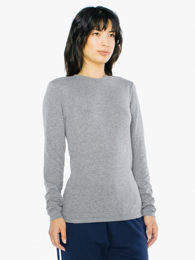 Unisex Tri-Blend Long Sleeve T-Shirt (Athletic Grey)
