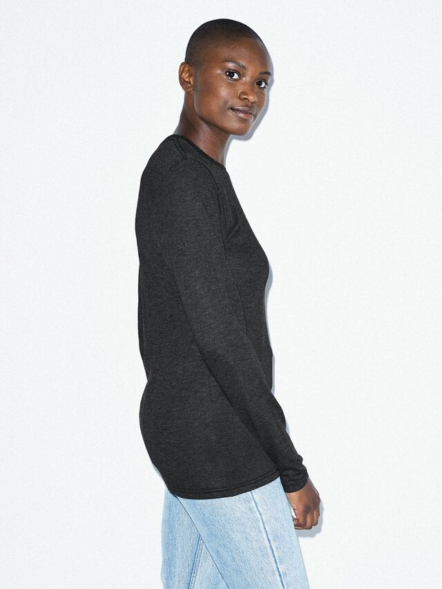 Unisex Tri-Blend Long Sleeve T-Shirt (Tri-Black)