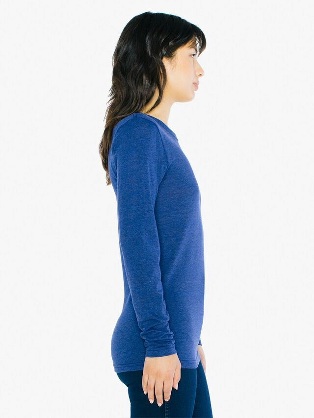 Unisex Tri-Blend Long Sleeve T-Shirt (Tri-Indigo)