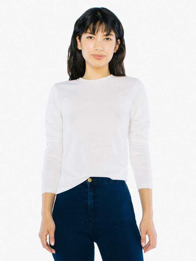 Unisex Tri-Blend Long Sleeve T-Shirt (Tri-Oatmeal)