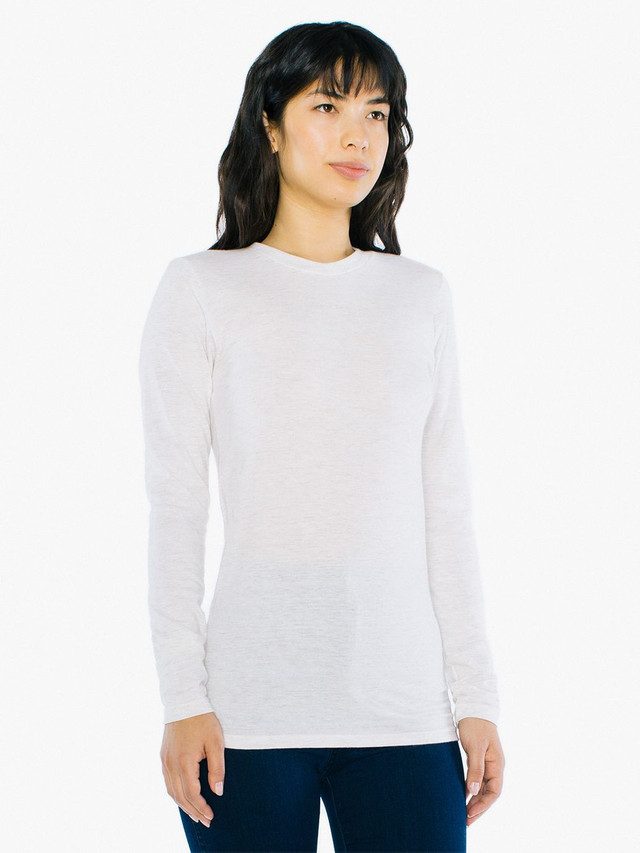 Unisex Tri-Blend Long Sleeve T-Shirt (Tri-Oatmeal)