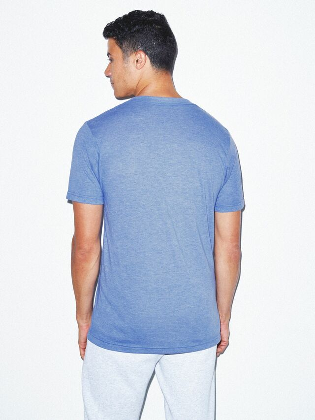 Tri-Blend V-Neck T-Shirt (Athletic Blue)