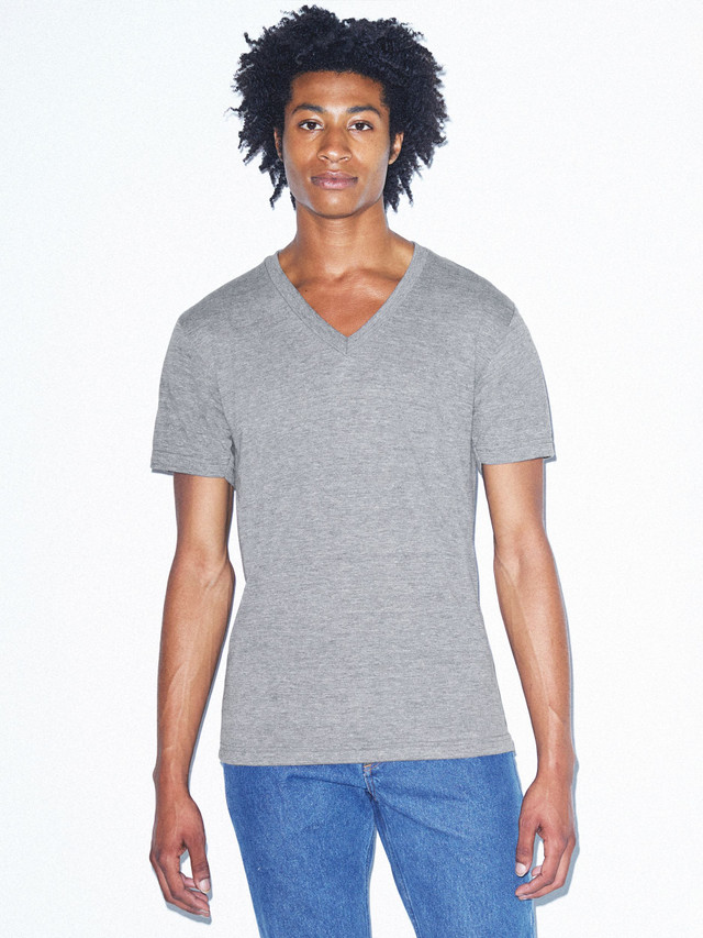 Tri-Blend V-Neck T-Shirt (Athletic Grey)