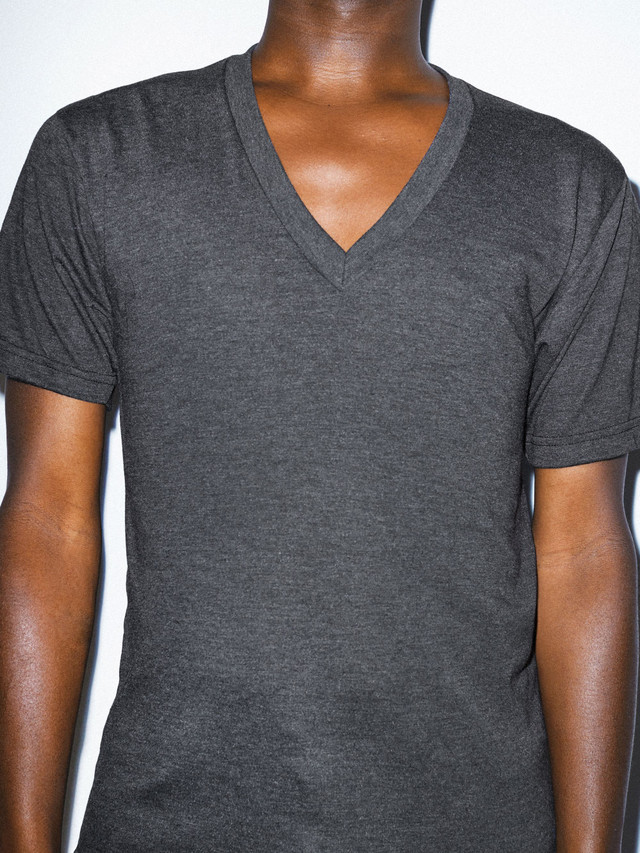 Tri-Blend V-Neck T-Shirt (Tri-Black)