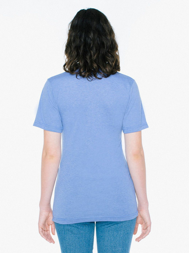 Unisex Tri-Blend V-Neck T-Shirt (Athletic Blue)