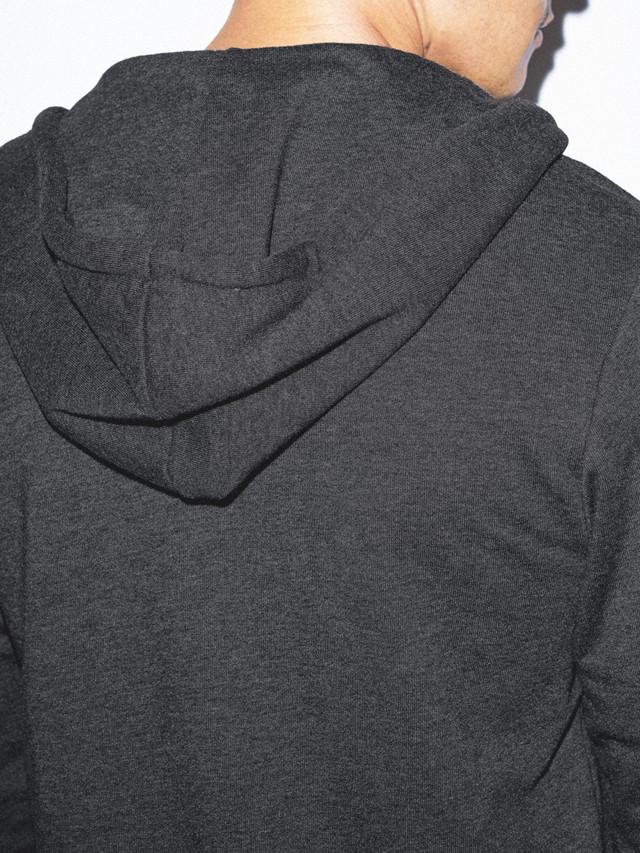 Tri-Blend Terry Zip Hoodie (Tri-Black)