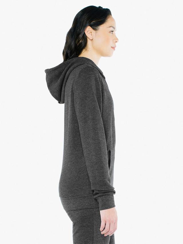 Unisex Tri-Blend Terry Zip Hoodie (Tri-Black)