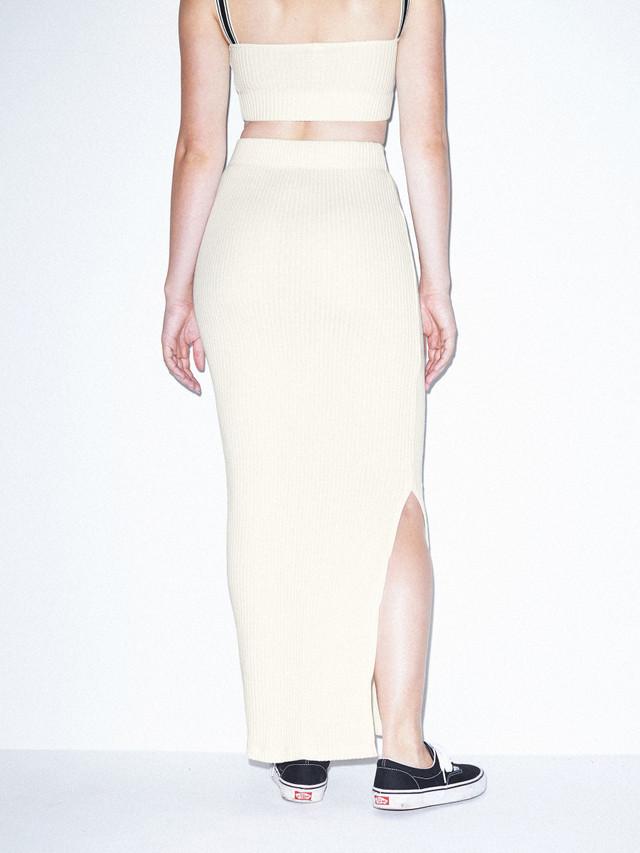 American Apparel Womens Thick Rib Maxi Skirt Skirt