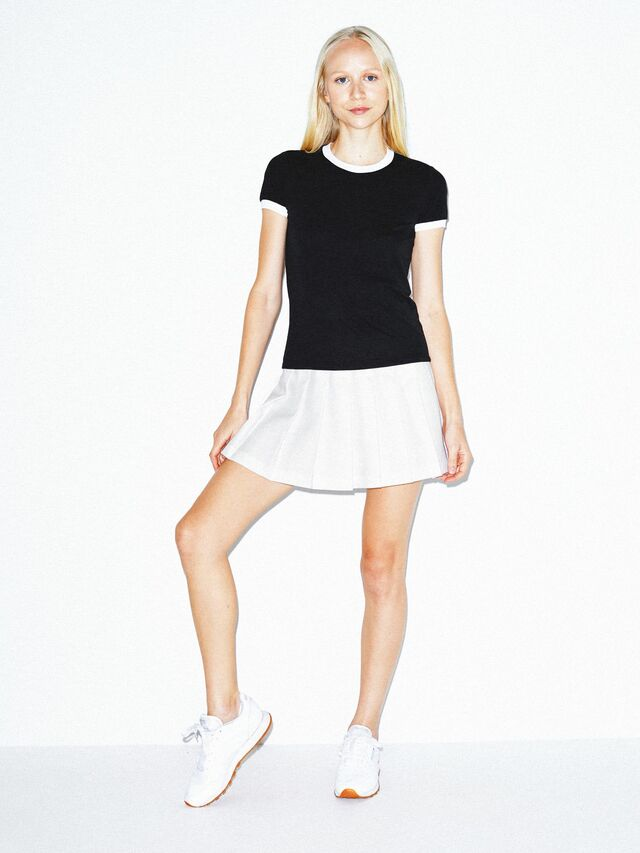50/50 Classic Ringer T-Shirt (Black/White)