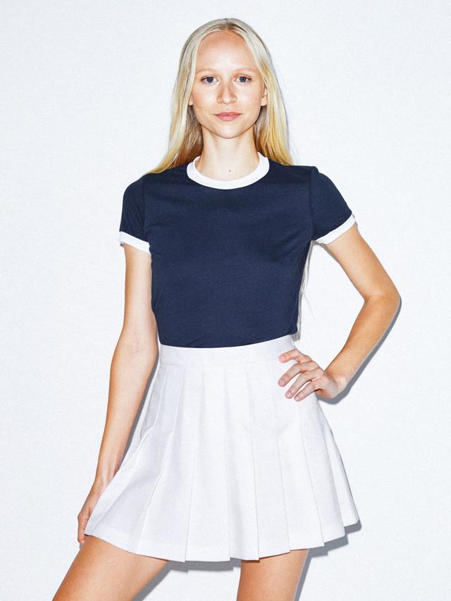 50/50 Classic Ringer T-Shirt (Navy/White)