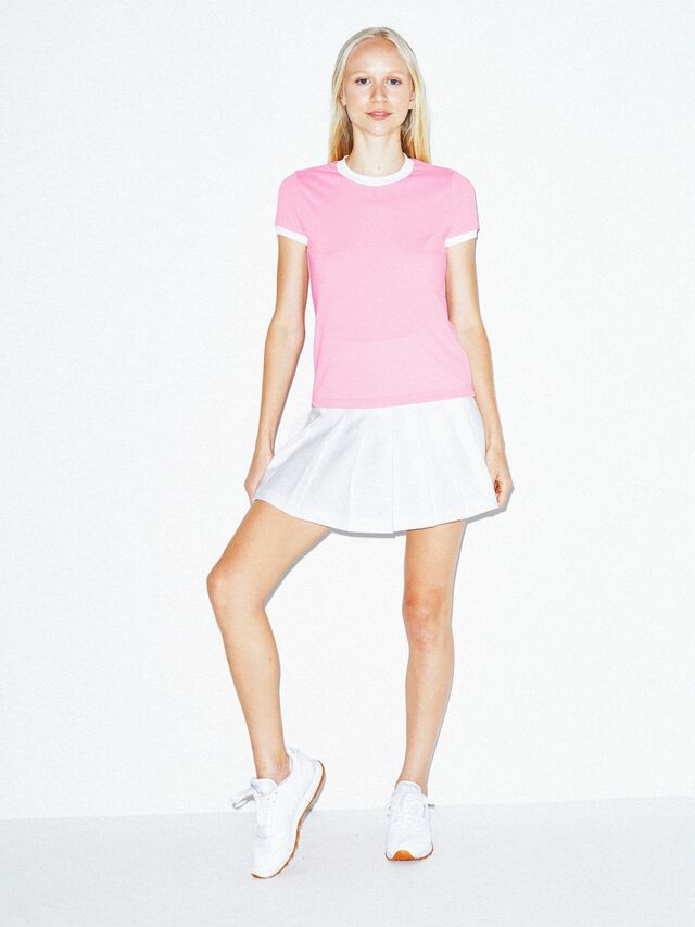50/50 Classic Ringer T-Shirt (Pink/White)