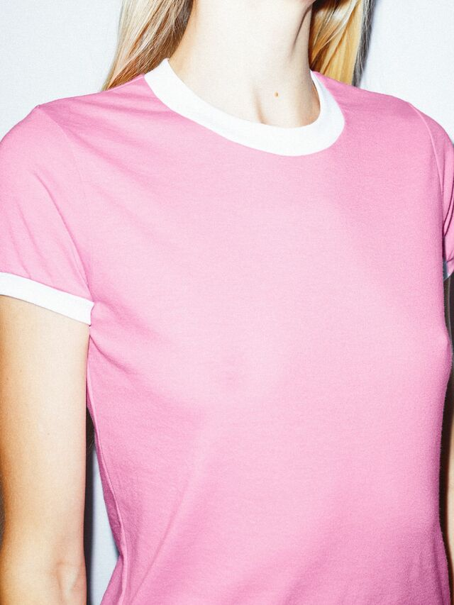 50/50 Classic Ringer T-Shirt (Pink/White)