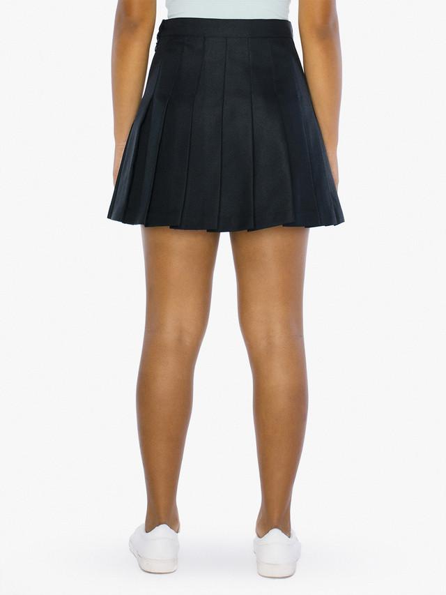 Kids' Gabardine Tennis Skirt (Black)