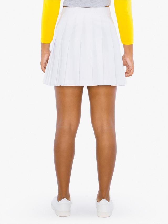 Kids' Gabardine Tennis Skirt (White)