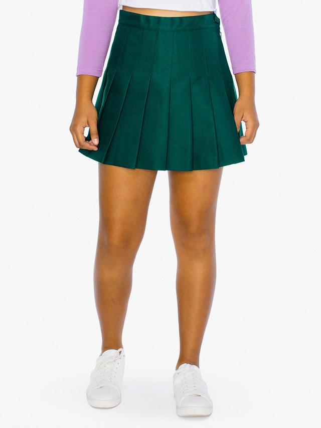 Kids' Gabardine Tennis Skirt (Forest)