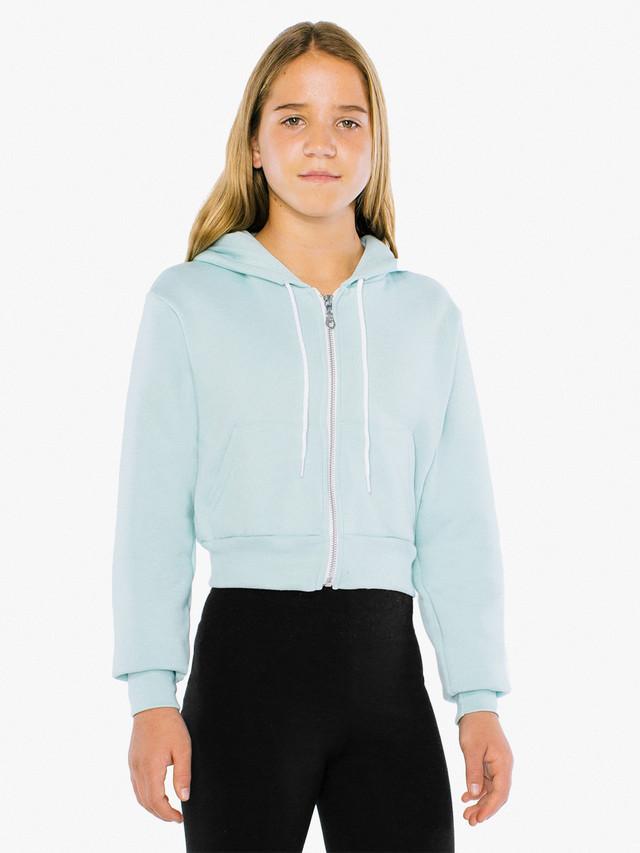 Kids' Flex Fleece Cropped Zip Hoodie (Menthe)