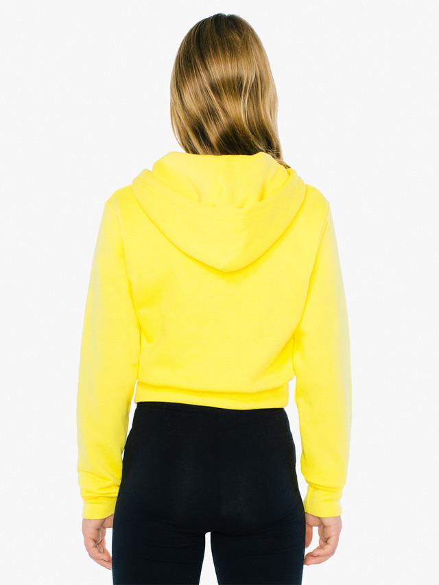 Kids' Flex Fleece Cropped Zip Hoodie (Sunshine)