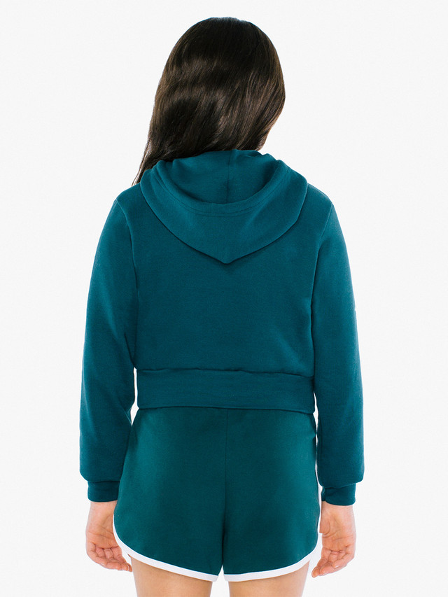 Kids' Flex Fleece Cropped Zip Hoodie (Forest)