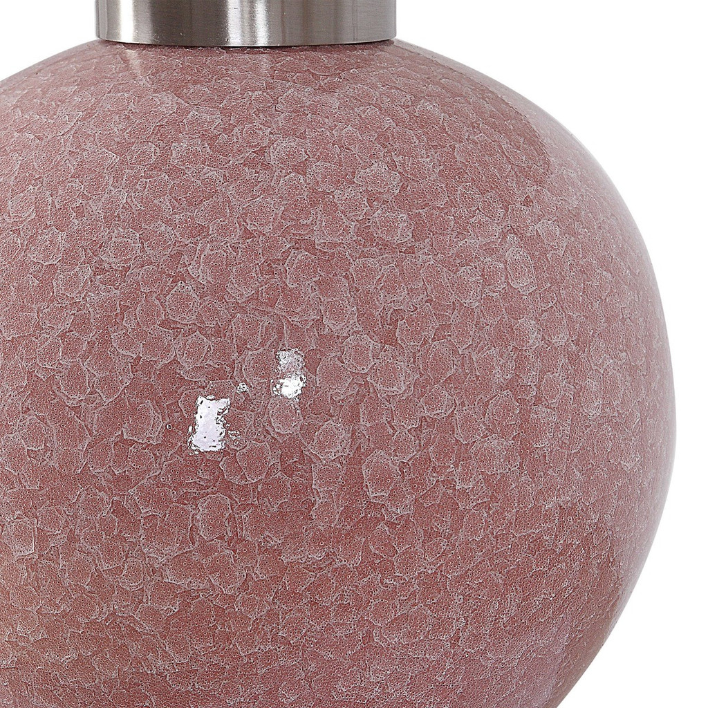 Coral Crackle Buffet Lamp