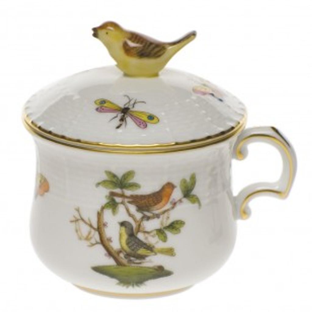 Pot de Creme with Bird