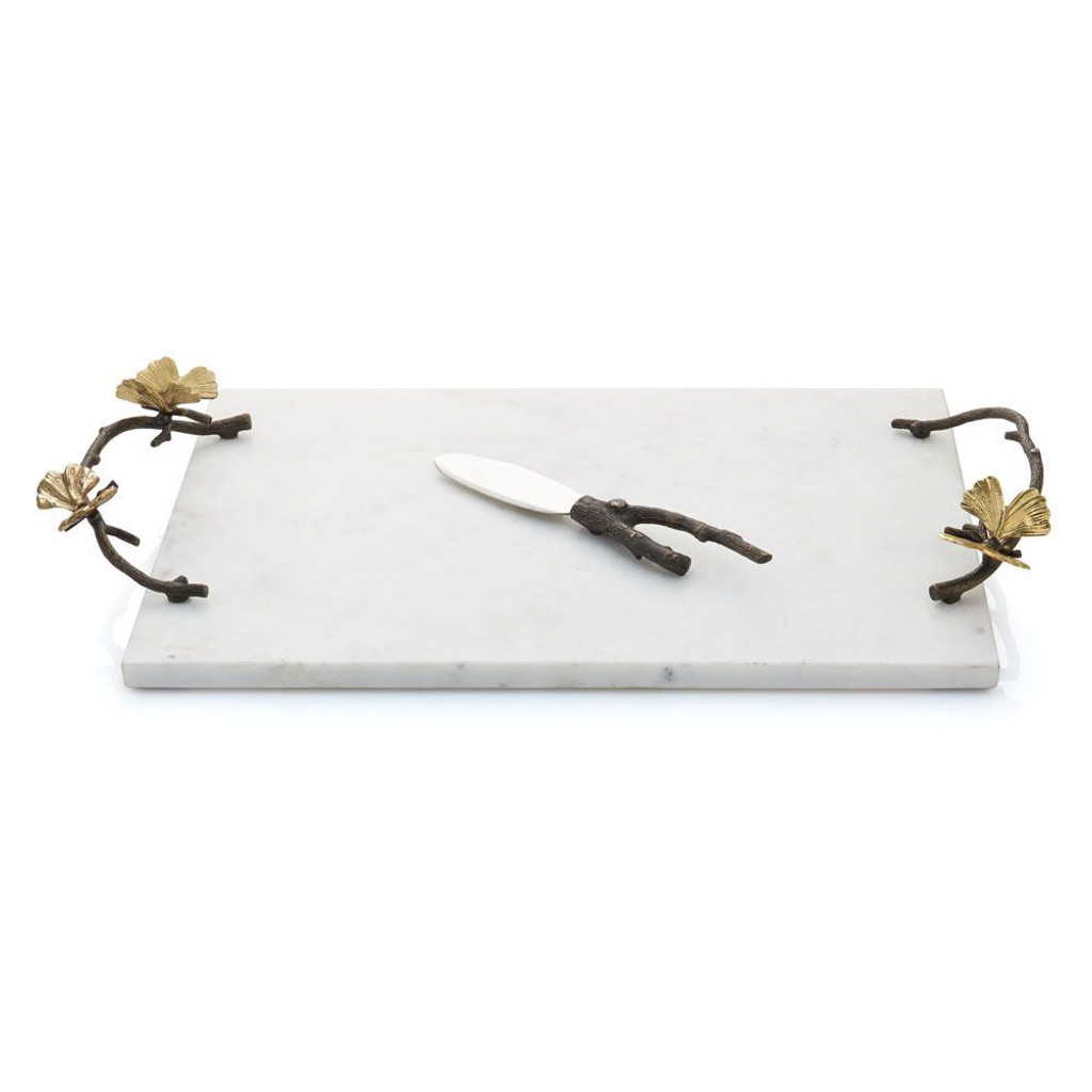 Butterfly Ginko Cheese Board with Knife