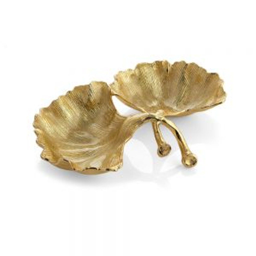 New Leaves Ginko Double Compartment Dish